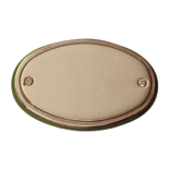 Dørskilt Messing - Oval
