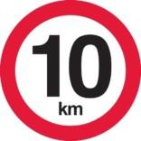 C55 Hastighedsbegrænsning 10 km Skilt