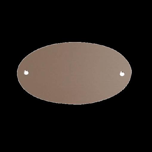 Dørskilt Børstet Sølv - Oval