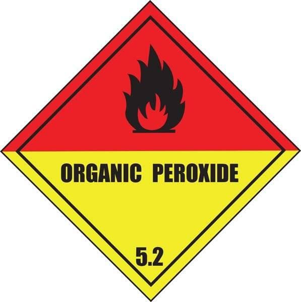 Organisk peroksid brandfare skilt