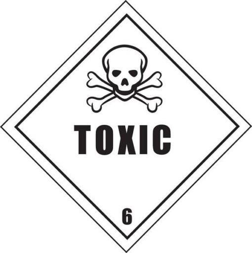 Giftig stoffer skilt