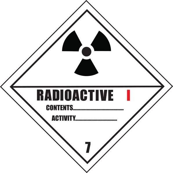 Radioaktivt stof koretoymerking skilt