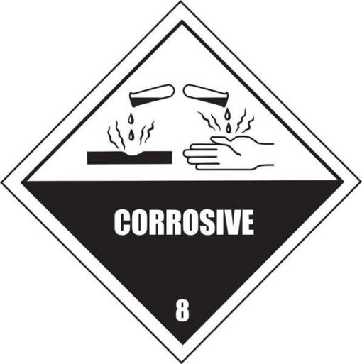 Ætsende stoffer CORROSIVE skilt