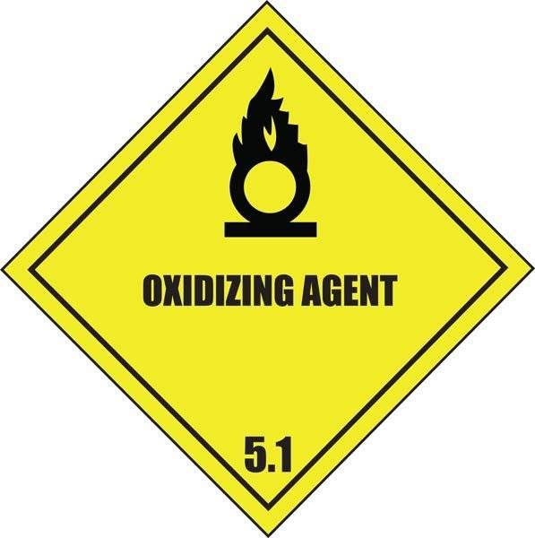 Oksiderende stoffer fare for intensivering af brand skilt