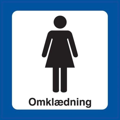 Dame Omklædning. Toiletskilt