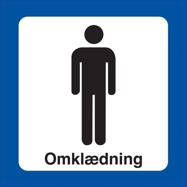 Mand Omklædning. Toiletskilt