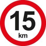 C55 Hastighedsbegrænsning 15 km. Skilt