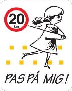 Pas på mig skilt - 20 km