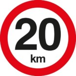 C55 Hastighedsbegrænsning 20 km. Skilt