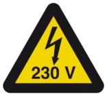 Advarselsskilt El 230 V