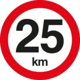 C55 Hastighedsbegrænsning 25 km. Skilt