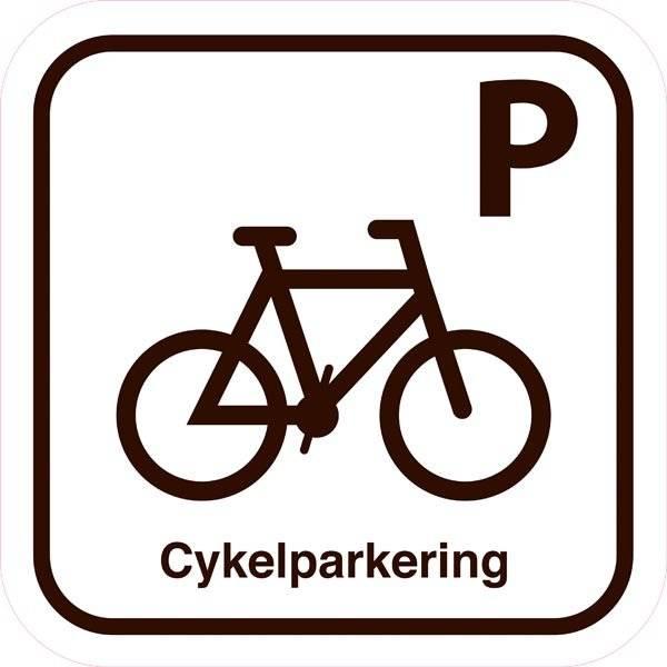 Cykelparkering. Parkeringsskilt
