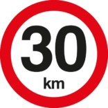 C55 Hastighedsbegrænsning 30 km. Skilt