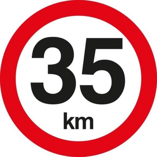 C55 Hastighedsbegrænsning 35 km. Skilt