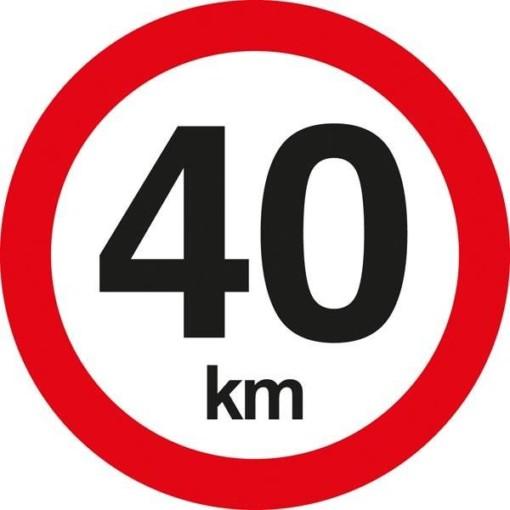 C55 Hastighedsbegrænsning 40 km. Skilt