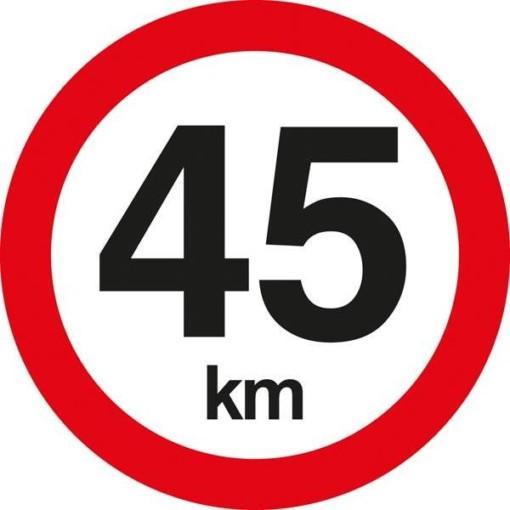 C55 Hastighedsbegrænsning 45 km. Skilt