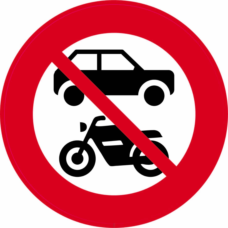 Forbudsskilt - Bil og MC