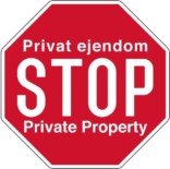 Privat ejendom STOP Private Property. Skilt
