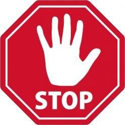 STOP. skilt