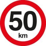 C55 Hastighedbegrænsning 50 km. Skilt