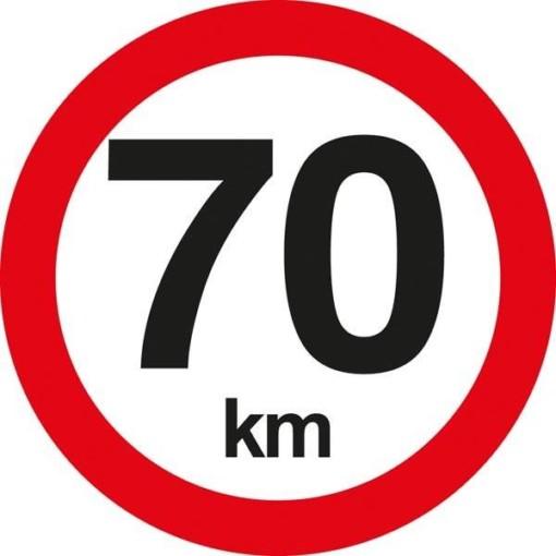 C55 Hastighedsbegrænsning 70 km. Skilt