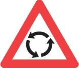Advarselstrekant - Rundkørsel skilt