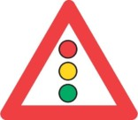 Advarselstrekant - Trafiklys skilt