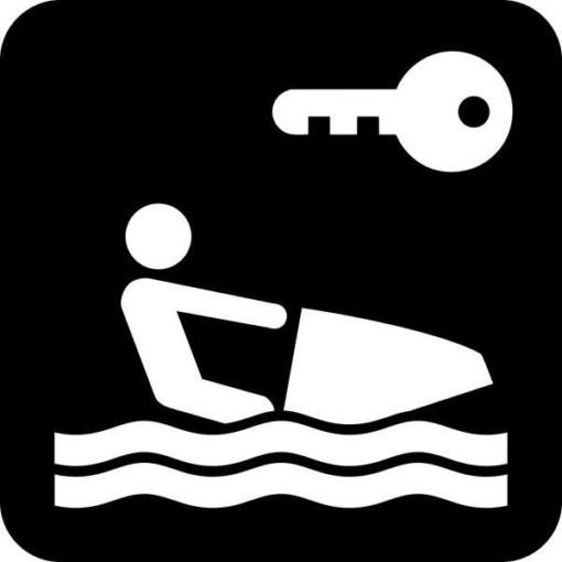Nøgle til vandscooter - Piktogram skilt