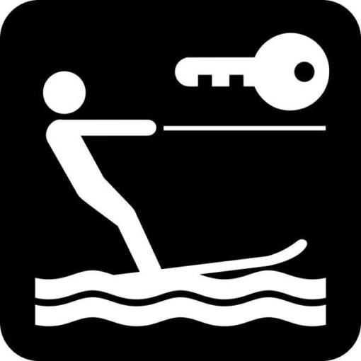 Nøgle til vandski - Piktogram skilt