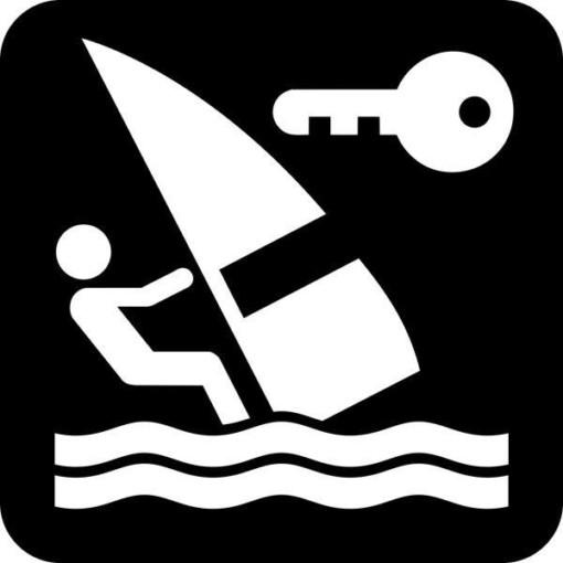 Nøgle til vindsurfing - Piktogram skilt