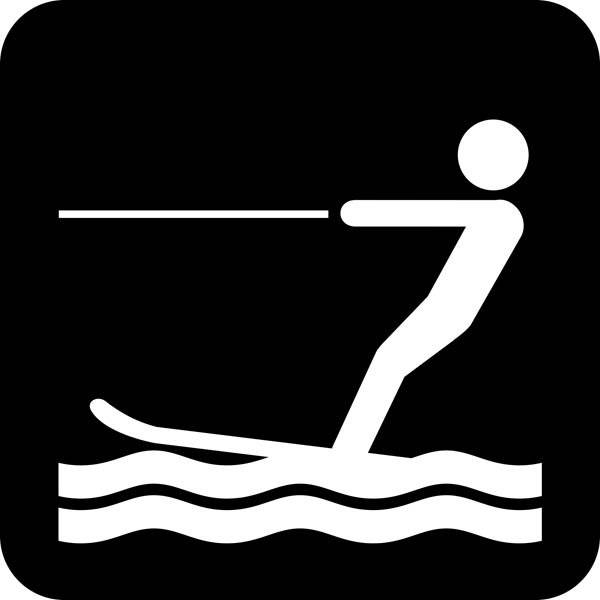 Vandski - Piktogram skilt
