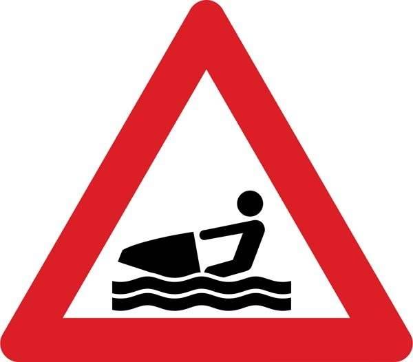 Advarselsskilt - Jetski