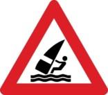 Advarselsskilt - Windsurfing