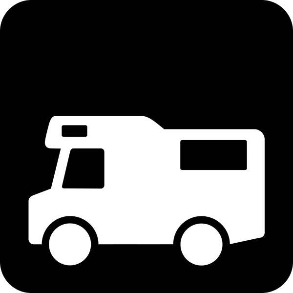 Autocamper - Piktogram skilt