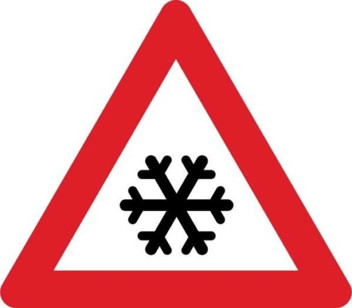 Advarselsskilt - Sne