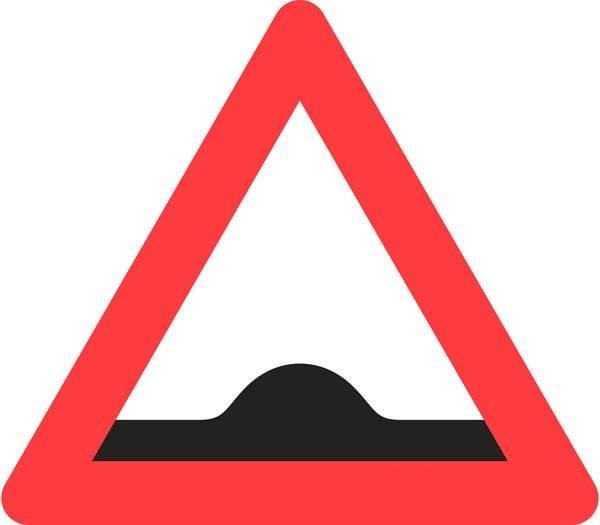 Advarselsskilt - Bump