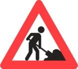 Advarselsskilt - Vejarbejde