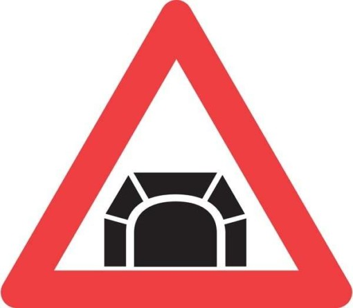 Advarselsskilt - Tunnel skilt