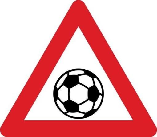 Advarselsskilt - Boldspil