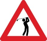 Advarselsskilt - Golf
