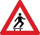 Advarselsskilt - Skatere
