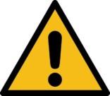 Advarsel ISO_7010_W001. Advarselsskilt