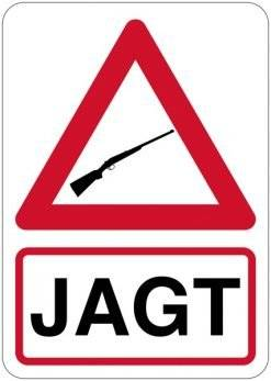Advarselsskilt - Jagt