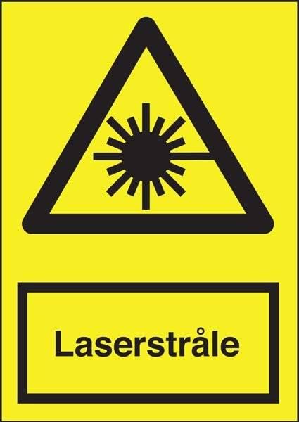 Advarselsskilt - Laserstråle