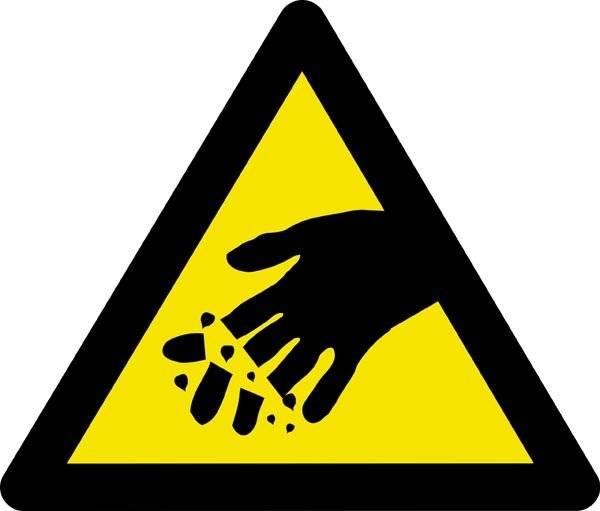 Advarselsskilt  - Afklipnings fare