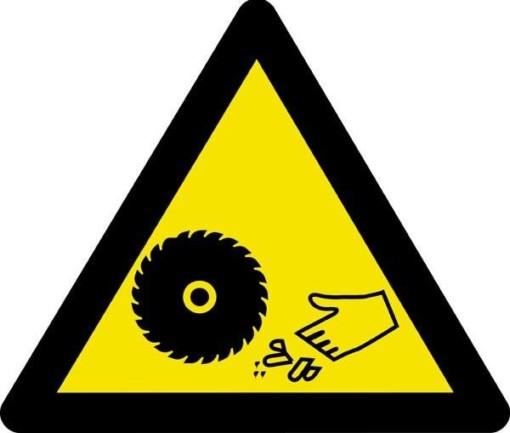 Advarselsskilt - Afskærings fare