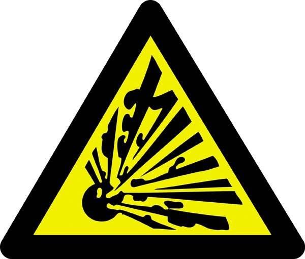 Advarselsskilt  - Eksplosionsfare