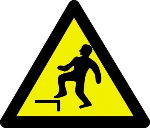 Advarselsskilt - Højttrinfare