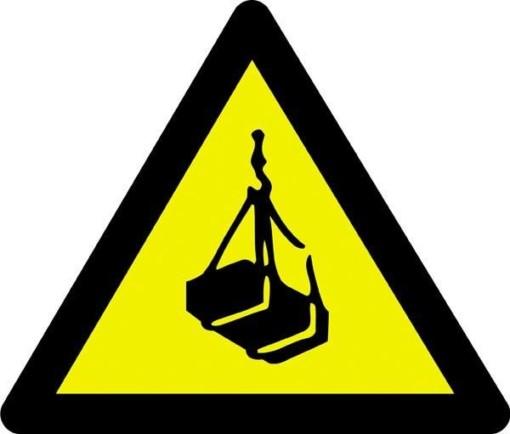 Advarselsskilt - Hængende last