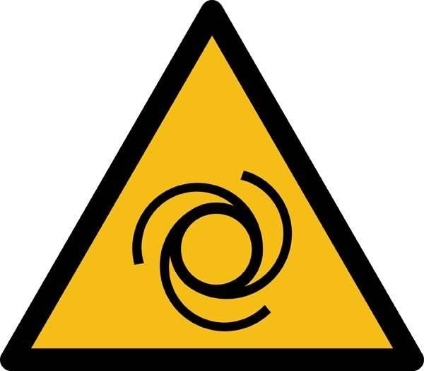Automatisk opstart ISO_7010_W018. Advarselsskilt